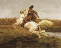 obrazy, reprodukce, Kozák na koni