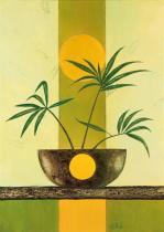 obrazy, reprodukce, Slnečné palmy II