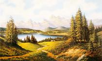 obrazy, reprodukce, Léto v horách