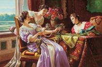 obrazy, reprodukce, Šperkovnice