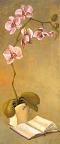 obrazy, reprodukce, Ružová orchidea