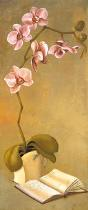 obrazy, reprodukce, Růžová orchidej