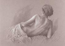 obrazy, reprodukce, Akt v posteli