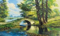 obrazy, reprodukce, Kamenný most