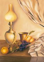 obrazy, reprodukce, Zátiší s lampou II