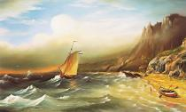 obrazy, reprodukce, Moře před bouří