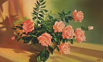 obrazy, reprodukce, Ruže III