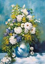 obrazy, reprodukce, Biele ruže