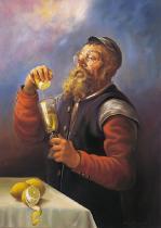 obrazy, reprodukce, Žid s citrónom