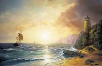bestseler: Morský breh s majákom