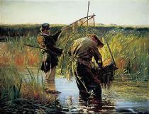 obrazy, reprodukce, Rybári