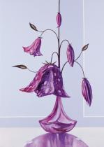 obrazy, reprodukce, Orosená Květina I