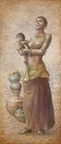 obrazy, reprodukce, African girl II