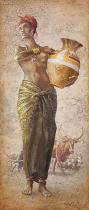 obrazy, reprodukce, African girl I