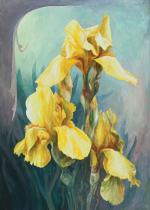 obrazy, reprodukce, Iris žlutý I