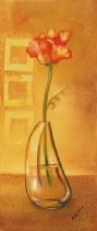 bestseler: Květina ve váze hnědé pozadí