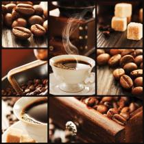 obrazy, reprodukce, Kávová koláž
