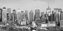 obrazy, reprodukce, Midtown skyline across Hudson river
