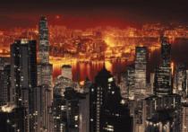 obrazy, reprodukce, Hong Kong v noci