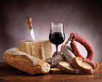 obrazy, reprodukce, Italská večeře