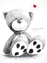obrazy, reprodukce, Medvídek