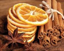 obrazy, reprodukce, Skořice, badyán a pomeranče