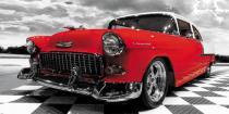 obrazy, reprodukce, Starý Chevrolet