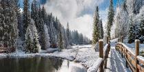 obrazy, reprodukce, Zimní krajina
