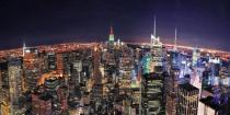 obrazy, reprodukce, New York v noci