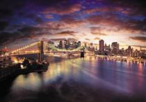 obrazy, reprodukce, New York za soumraku