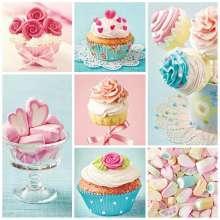 obrazy, reprodukce, Cupcakes