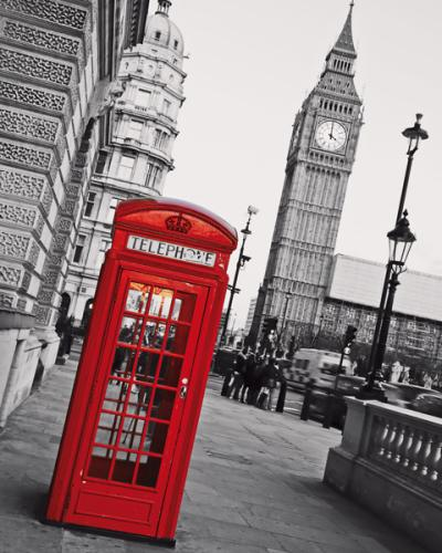 obraz Big Ben and phone booth