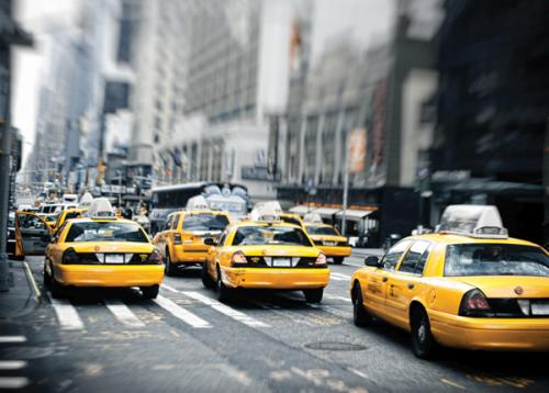 obraz New York taxis