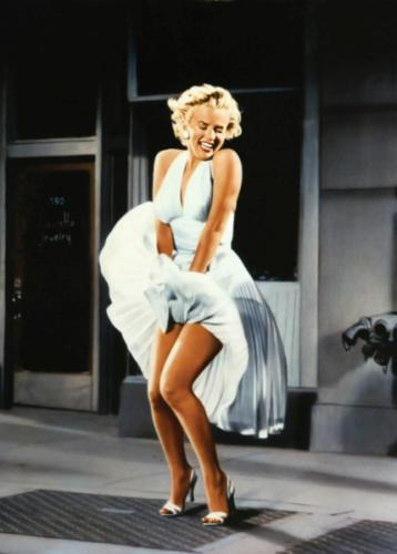 "obraz On the set of ""The seven year Itch"" - Marilyn Monroe"