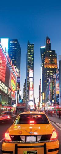 obraz Traffic Along Broadway - Taxi 1 (20x50)