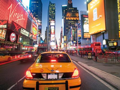 obraz Traffic Along Broadway - Taxi 1