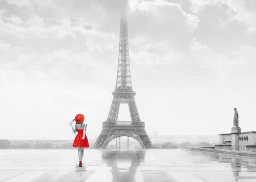 obraz Dívka v červeném