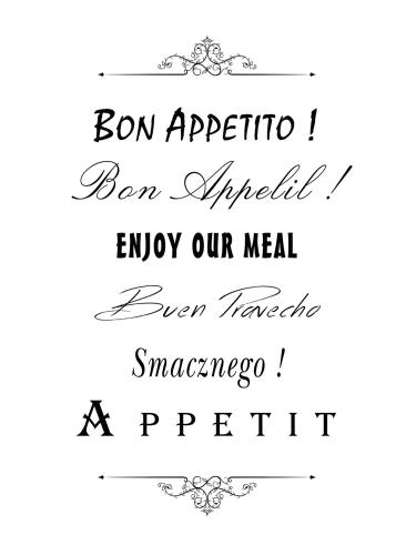 obraz Bon Appetito