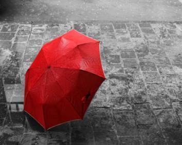 obraz Červený deštník