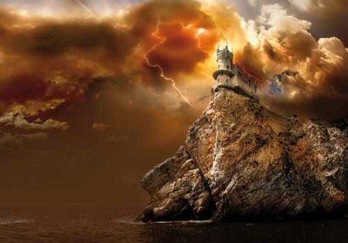 obraz Hrad na útesech