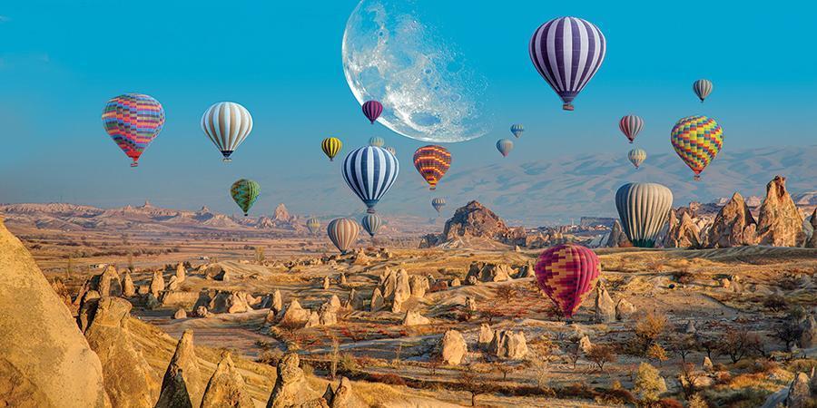 obraz Létající balóny nad Kappadokií