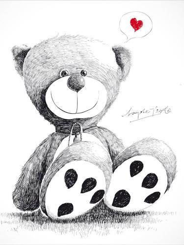 obraz Medvídek