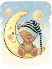 obraz Měsíc s medvídkem 2