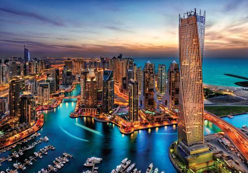 obraz Noční Dubai
