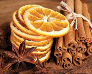 obraz Skořice, badyán a pomeranče