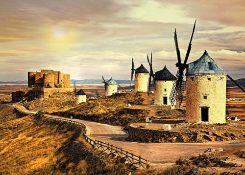 obraz Větrné mlýny Dona Quijota
