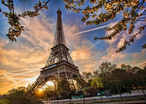 obraz Západ slunce v Paříži
