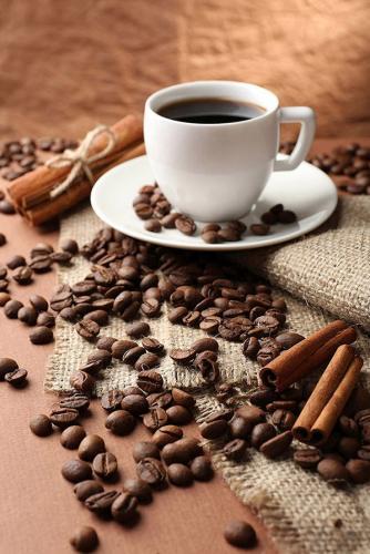 obraz Zátiší s kávou a skořicí