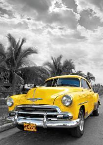 obraz Žluté auto
