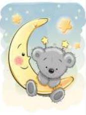 obraz Měsíc s medvídkem 1